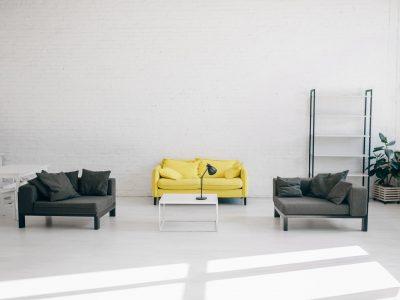 Modern living room interior, nobody