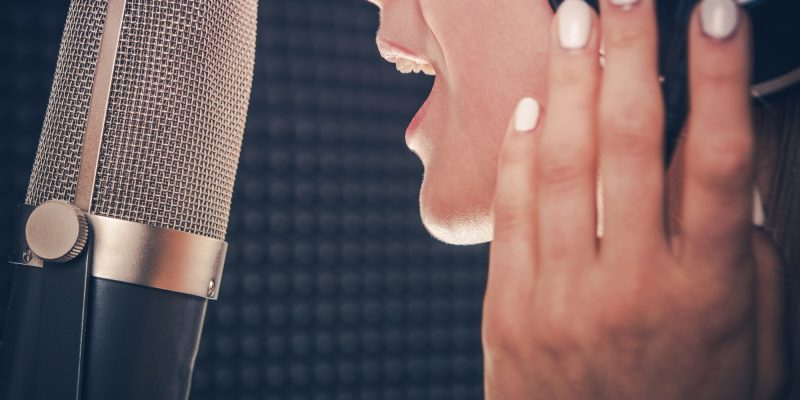 Song Recording by Singer